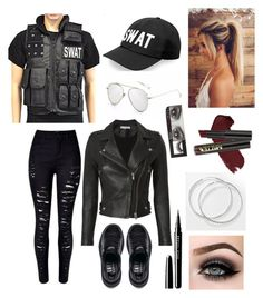 """Swat Costume"" by jasyjc on Polyvore featuring IRO, Puma, L.A. Girl, ASAP and Huda Beauty"