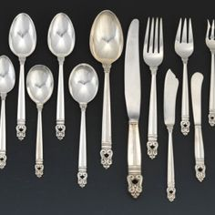 A Sterling Silver Service in the Royal Danish Pattern