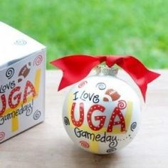 Any fan will cheer for this UGA Gameday Ornament. Personalize it with a name and tailgate date for a special spirited keepsake. All collegiate ornaments come boxed and tied with a coordinating ribbon making them the perfect gift for anyone.