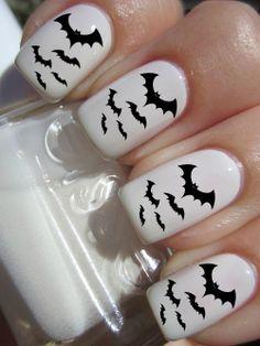 Bat Halloween Nail Decals