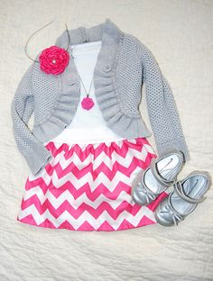 Valentines Day Chevron Skirt Pink Chevron Easter Skirt. $18.00, via Etsy.