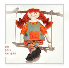 Pattern  Doll pattern  Pippi Longstocking  doll by elvesworld