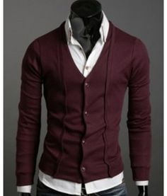 Solid Mens Button Cardigan Slim fit solid colored four button cardigan with stitch work on both sides. A classy yet simple cardigan available in Maroon, Black and Grey.
