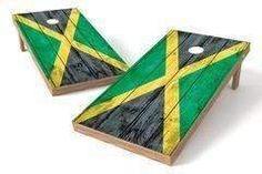Jamaica Flag Single Cornhole Board-Vintage
