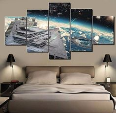 Star Wars Capital One Ship Canvas Wall Art - Star Wars Gift #starwars #canvas #painting #art #decoración