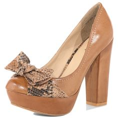 Tan #bow front #court #shoe #dorothy perkins