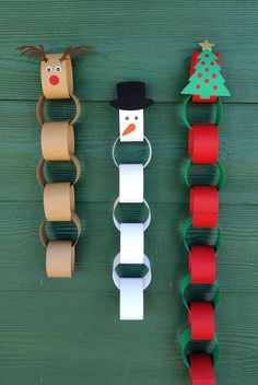 Christmas Countdown Crafts, Preschool Christmas, Christmas Activities, Christmas Crafts For Kids, Christmas Projects, Christmas Fun, Holiday Crafts, Reindeer Christmas, Christmas Paper Chains