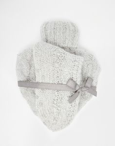 ASOS Christmas Knitted Heart Hot Water Bottle And Socks Set £11.00