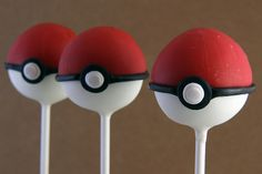 Pokeball Cake Pops!