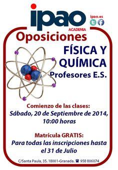 Preparación de las oposiciones de Física y Química