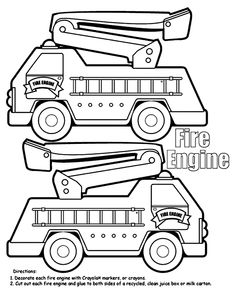 Dump Truck Box coloring page this could also be used as