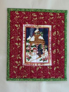 Quilted CHRISTMAS SNACK MAT Rug Mug Candle Mat by TessieTextile, $8.50