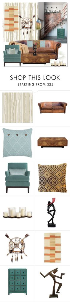 """""""Untitled #3807"""" by kellie-debrandt-mescher ❤ liked on Polyvore featuring interior, interiors, interior design, home, home decor, interior decorating, Cole & Son, M&Co, John-Richard and NOVICA"""
