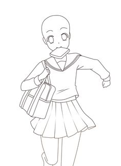Anime Sketch School UniformYou can find School uniforms and more on our website.✔ Anime Sketch School Uniform✔ Anime Sketch School UniformYou can find School uniforms and more on our website. Chibi Girl Drawings, Art Drawings Sketches Simple, Cute Drawings, Manga Poses, Anime Drawing Styles, Anime Base, Drawing Reference Poses, Design Reference, Art Inspiration Drawing