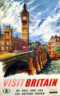 Original travel poster for Southern british railways
