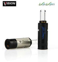 Atomizador V Spot VISION VAPROS   http://www.vapvapor.es/vision-vapros-claromizadores-atomizadores-cigarros-electronicos/v-spot-tank-vapros-vision-atomizador  - Resistencias dual coil (doble resistencia) - Proporciona una gran producción de vapor  - Capacidad: 2ml  - Diseño único y elegante con una ventana de cristal a través de la cual se puede observar el líquido que queda en el atomizador - Compatible con baterías rosca eGo - Boquilla de cristal  - Color: negro