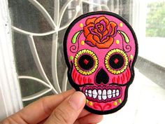 1 Dollar Shipping Iron On Patch Neon Pink by damnyoucrafty