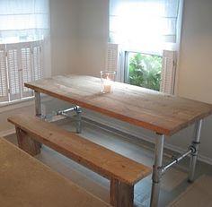 rustic industrial table...diy