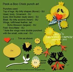 Alex's Creative Corner: Peek-A-Boo Chick