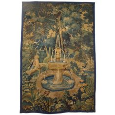 18th Century 'Fountain' Tapestry from France | From a unique collection of antique and modern tapestries at http://www.1stdibs.com/furniture/wall-decorations/tapestry/