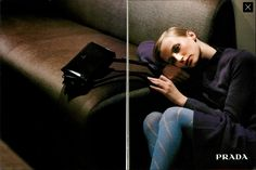 Vogue Italia Esther de Jong by Glen Luchford for Prada FW1996
