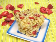 Strawberry Lemonade Rice Crispy Treats