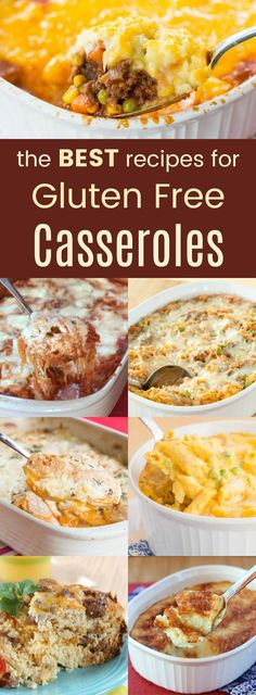 The Best Gluten-Free Casserole Recipes – main dishes and side dishes, these casseroles are the easy comfort food you crave. The Best Gluten-Free Casserole Recipes – main dishes and side dishes, these casseroles are the easy comfort food you crave. Gluten Free Recipes For Dinner, Foods With Gluten, Gluten Free Cooking, Dairy Free Recipes, Dinner Recipes, Gluten Free Lunches, Easy Gluten Free Meals, Gluten Free Recipes Hamburger, Eating Gluten Free