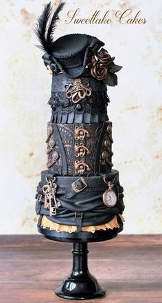Pirate steampunk cake - Cake by Tamara Incredible is not the world. I can't stop looking at this cake!