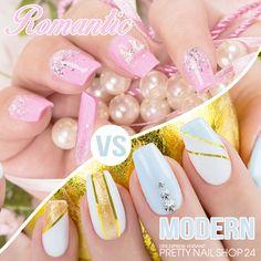 Tragt Ihr lieber verspielte, mädchenhafte Designs auf Euren Nägeln oder gefallen Euch grafische, klare Looks besser? Eure Martina