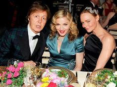 M with Paul and stella Paul Mccartney, Stella Mccartney, Madonna Family, Sir Paul, First Crush, The Fab Four, Naomi Campbell, One Design, Creative Director