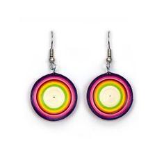 Quilled Rainbow Lollipop Earrings