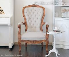shabby chic wooden harmchair