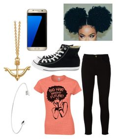 """""""Big Hair, Bright Future"""" by fangirling0ver-lae ❤ liked on Polyvore featuring Ted Baker, Frame, Samsung and Converse"""