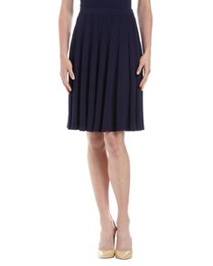 Knife Pleated Mid-Length Skirt, Ink by St. John at Last Call by Neiman Marcus.
