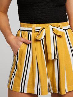 677ea30cd3 Paper Bag Short Mustard Stripe - Jay Jays Online Summer Shorts Outfits,  Short Outfits,