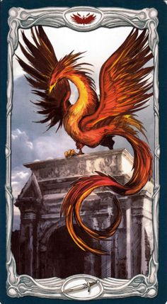 Gallery of Images from Epic Fantasy Tarot Card Deck. Tarot Card Decks, Tarot Cards, Phoenix Dragon, Deck Of Cards, Neon, Fantasy, Gallery, Artist, Gifs