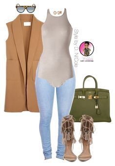 """""""Untitled #2486"""" by stylebydnicole ❤ liked on Polyvore featuring Hermès, Alexander Wang, Schutz, Rick Owens, Allurez and CÉLINE"""
