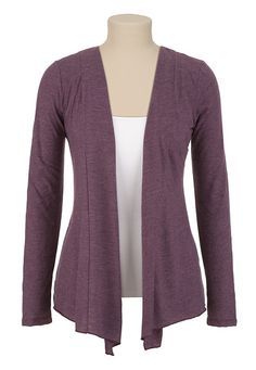 Crochet Back Flecked Cardiwrap available at #Maurices