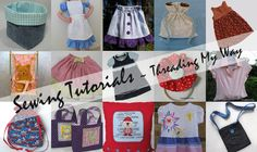 Threading My Way SEWING TUTORIALS. sewing techniques & skills, bags & baskets, refashioning, sewing for children Sewing Blogs, Sewing Hacks, Sewing Tutorials, Sewing Crafts, Sewing Tips, Sewing Patterns, Bag Patterns, Crochet Crafts, Yarn Crafts