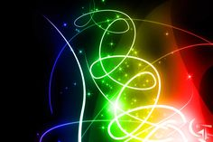 Rainbow Sparkles on a Black Background