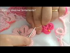 Tutorial sencilo crochet como tejer cordon rumano para encaje irlandes - YouTube