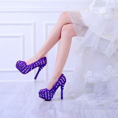 116.99$  Buy now - 2017 Newest Arrived Gorgeous Red And Purple Lace Flowers Rhinestone Crystal Bridal Wedding Shoes Party Prom Stiletto Nightclub   #SHOPPING
