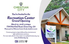 Join us on March 15 for our Recreation Center Grand Opening!