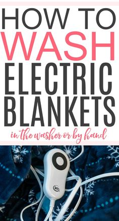 Stains or dirt on your electric blanket? Check out this simple tip on how to wash an electric blanket. You can clean it in the washing machine or by hand. Household Cleaning Tips, Cleaning Recipes, House Cleaning Tips, Spring Cleaning, Cleaning Hacks, Cleaning Schedules, Toilet Cleaning, Household Cleaners, Handmade Home