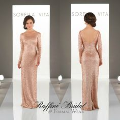 a4b1e49986e Sorella Vita - This sequin style features a wide scoop neckline that  continue to form the open scoop back