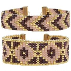 Loom Bracelet Duo - Bronte Rose - Exclusive Beadaholique Jewelry Kit