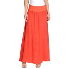 Armani Jeans Long skirt ($255) ❤ liked on Polyvore