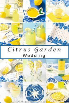 A citrus garden wedding make for a great excuse to start the party early in the afternoon when there is still plenty of sunshine. Get inspired with a citrus themed garden wedding summer theme decor and favor ideas at WeddingConnexion.com  #CitrusGardenWeddingTheme #SummerWeddingTheme #GardenWeddingFavors