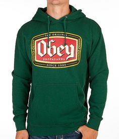 'OBEY Original Lager Hooded Sweatshirt' #buckle #fashion www.buckle.com