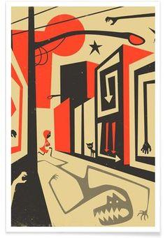 Red Riding Hood - Jazzberry Blue - Affiche premium